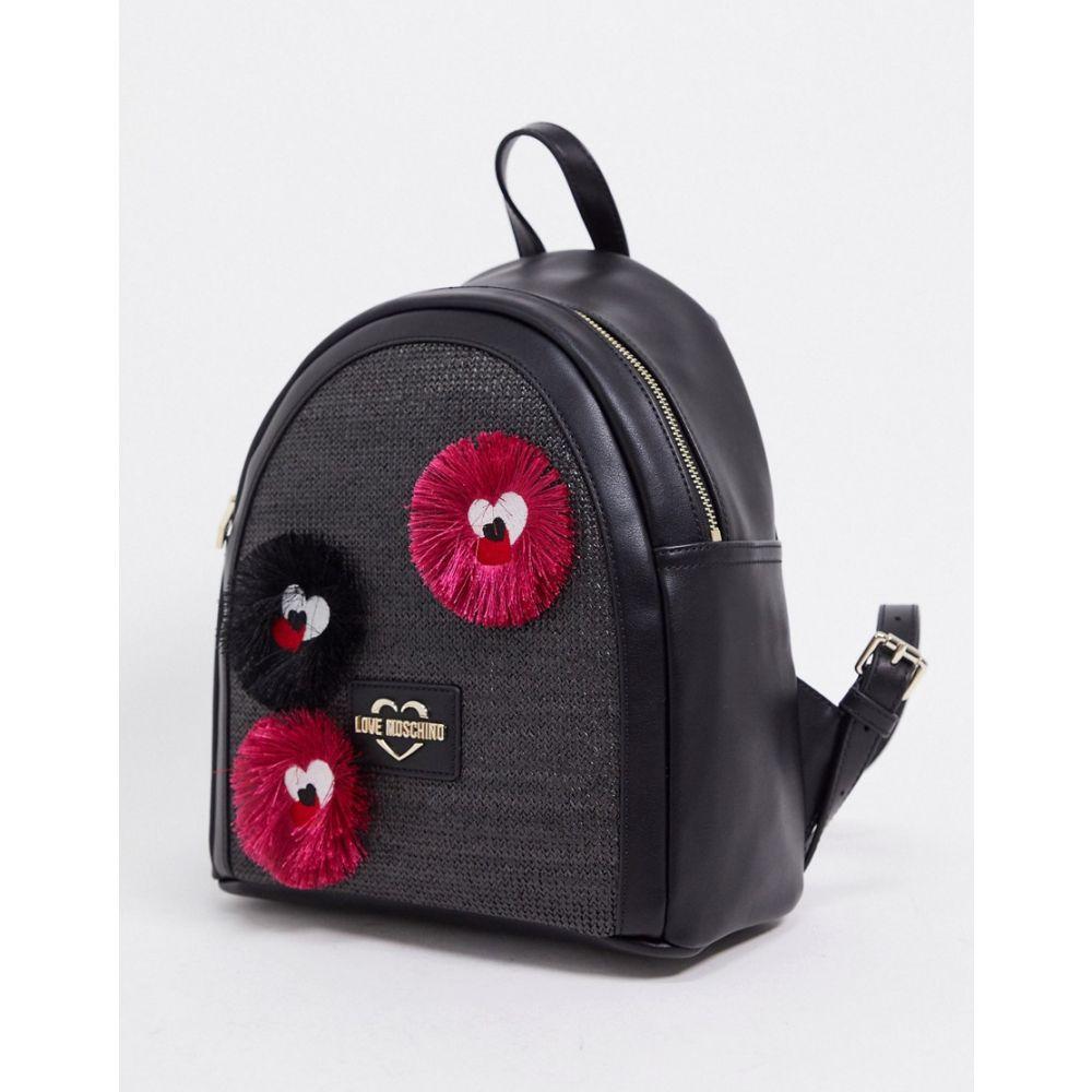モスキーノ Love Moschino レディース バックパック・リュック バッグ【backpack with novelty applique in black】Black