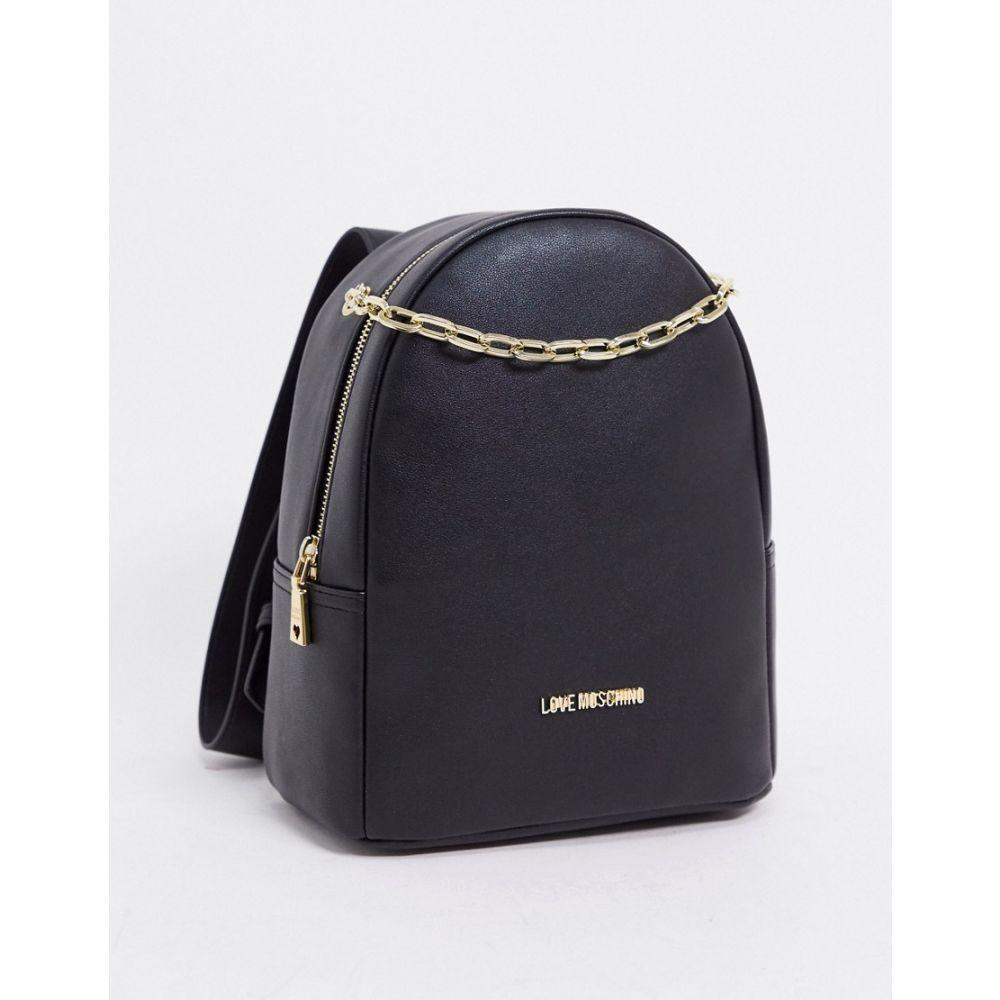 モスキーノ Love Moschino レディース バックパック・リュック バッグ【backpack with chain in black】Black