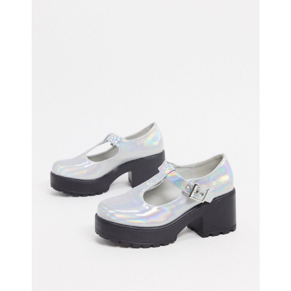 コイフットウェア Koi Footwear レディース ヒール シューズ・靴【Sai vegan mary jane shoes in silver holographic】Silver holographic