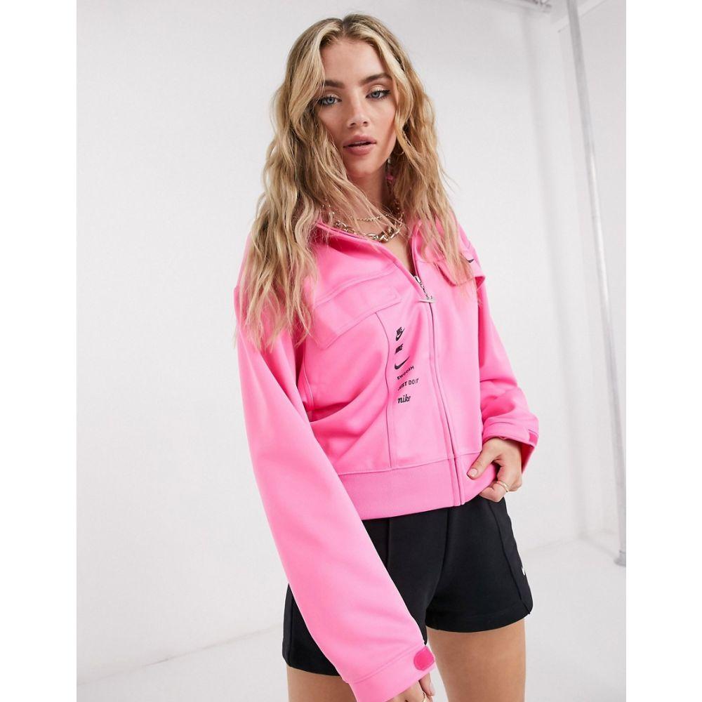 ナイキ Nike レディース ジャージ アウター【swoosh track jacket in pink】Pink