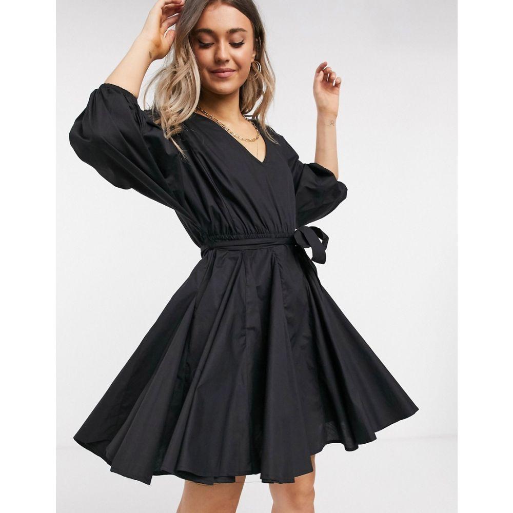 リバーアイランド River Island レディース ワンピース フルスカート ミニ丈 ワンピース・ドレス【full skirt mini dress in black】Black