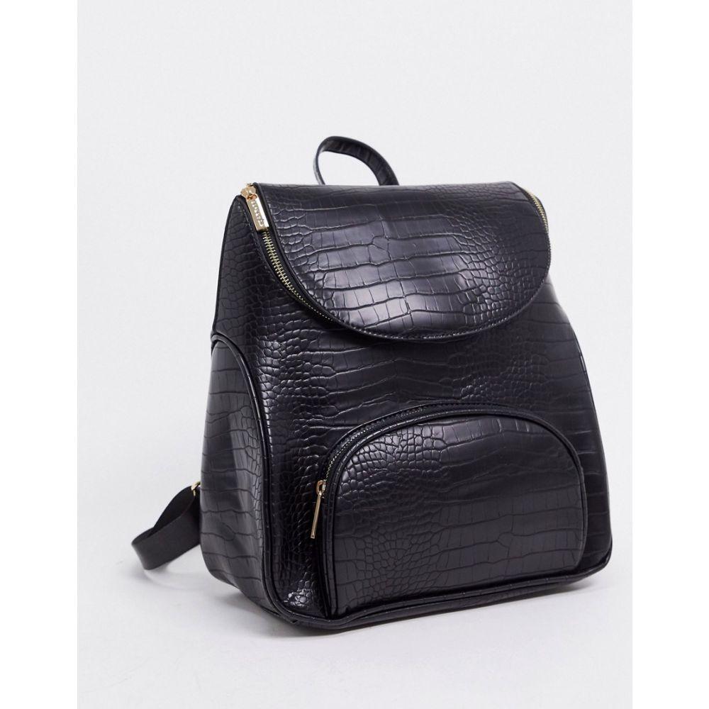 スキニーディップ Skinnydip レディース バックパック・リュック バッグ【backpack in black mock croc】Black croc