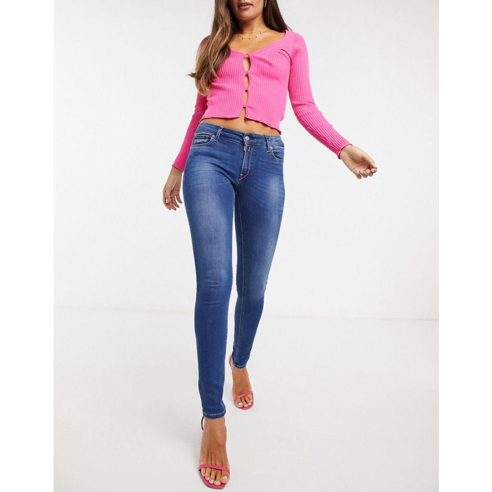 リプレイ Replay レディース ジーンズ・デニム ボトムス・パンツ【Stella skinny jeans in mid blue】Medium blue