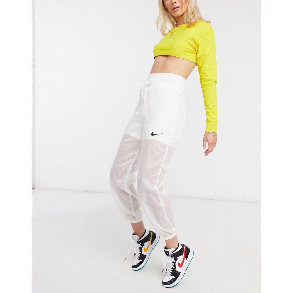 ナイキ Nike レディース ジョガーパンツ ボトムス・パンツ【woven pants in white with mesh layer】White/white/black