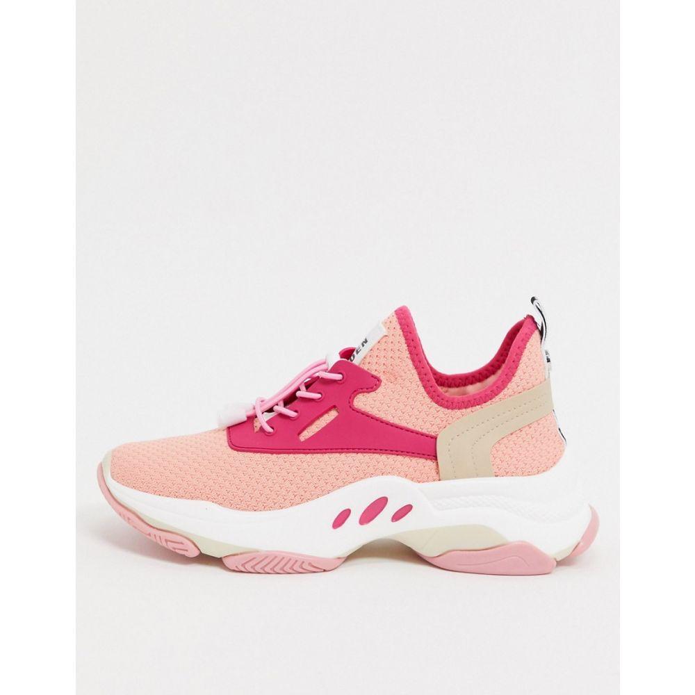 スティーブ マデン Steve Madden レディース スニーカー チャンキーヒール シューズ・靴【match chunky trainers in pink mix】Peach