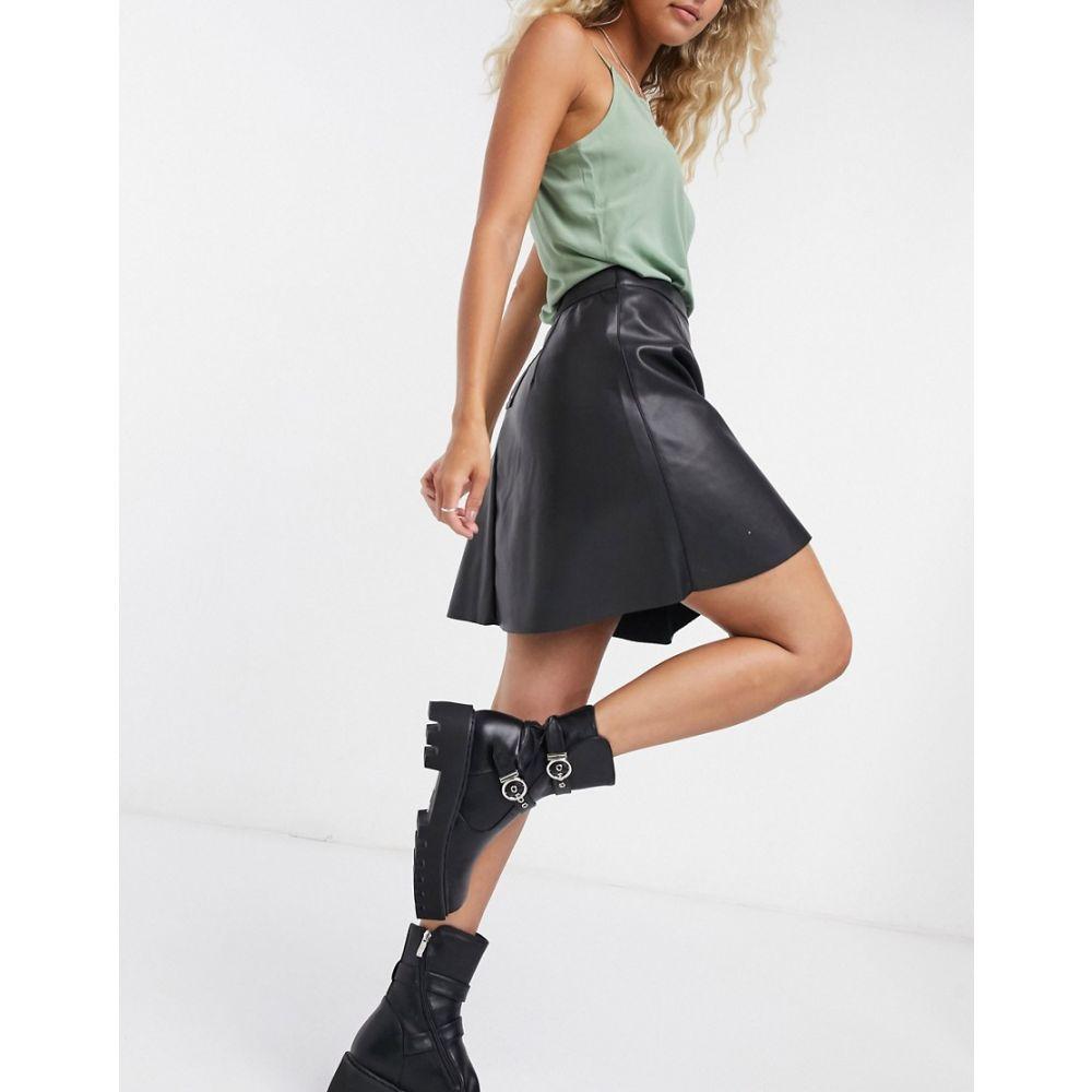 ヴィラ Vila レディース スカート 【faux leather skirt in black】Black
