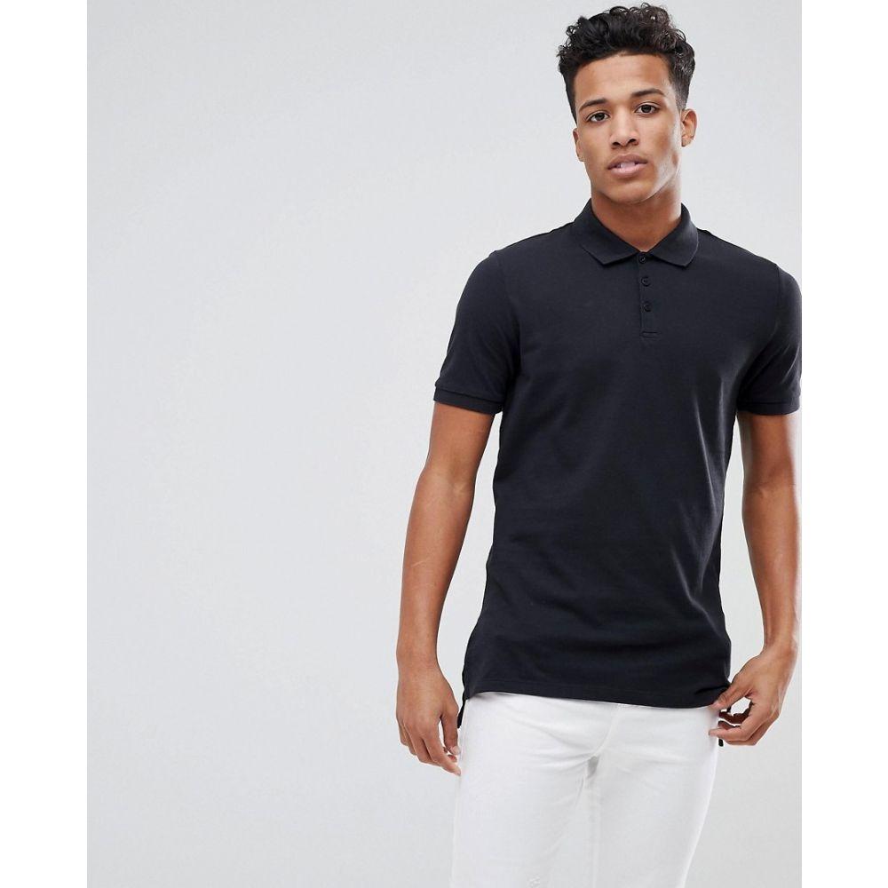 カルバンクライン Calvin Klein メンズ ポロシャツ トップス【Elongated Polo Shirt】Black