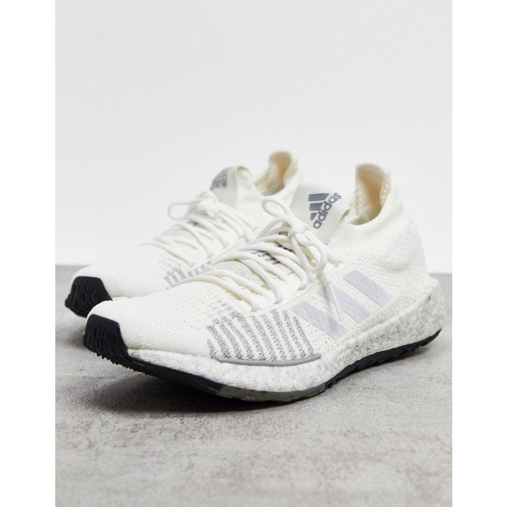 アディダス adidas performance メンズ ランニング・ウォーキング シューズ・靴【adidas Running pulseboost trainers in white】White