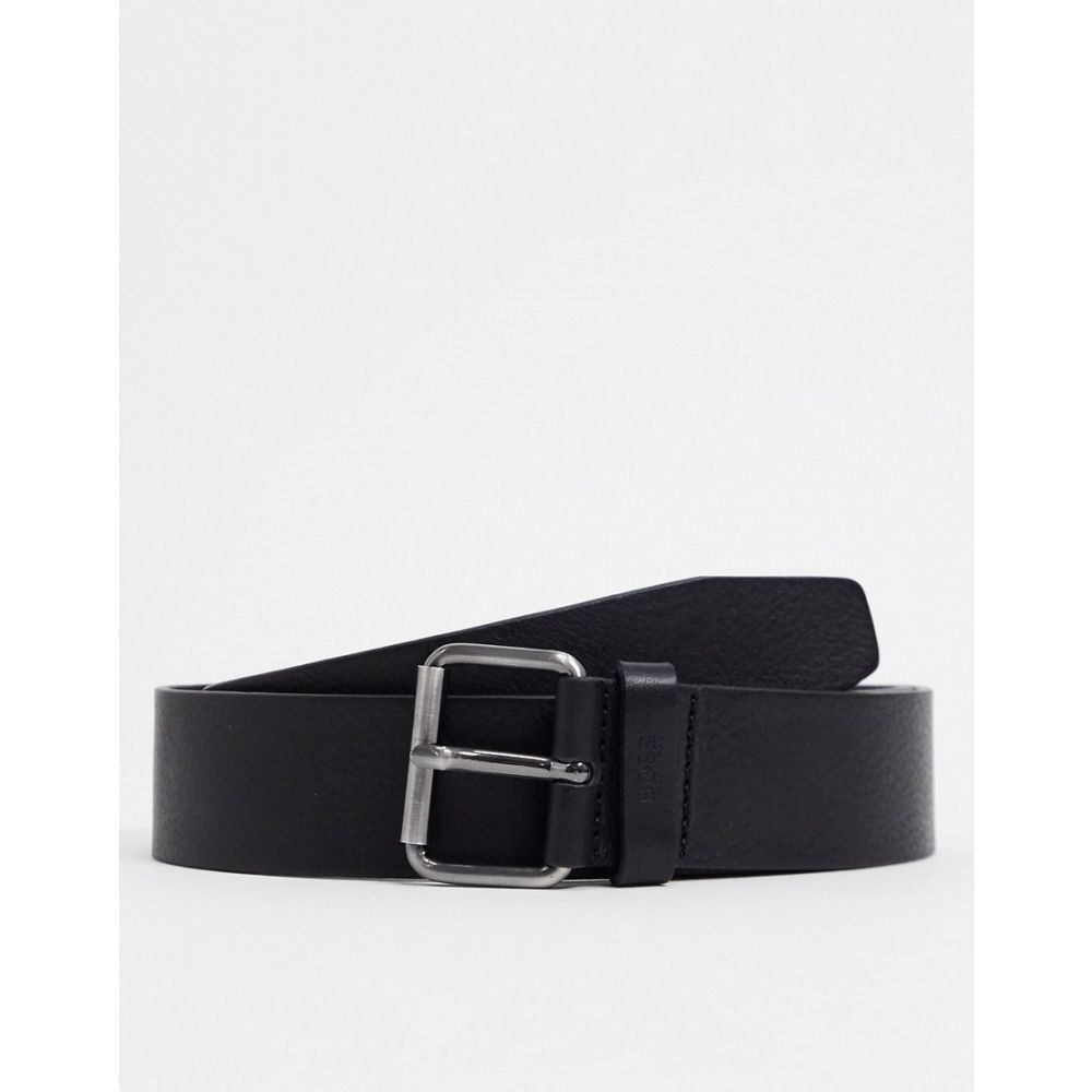 ヒューゴ ボス BOSS メンズ ベルト 【Serge leather belt in black】Black