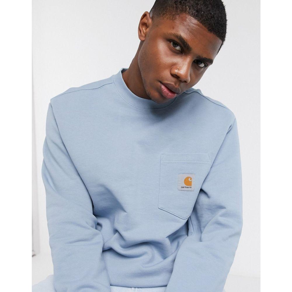 カーハート Carhartt WIP メンズ スウェット・トレーナー トップス【pocket sweatshirt in blue】Blue