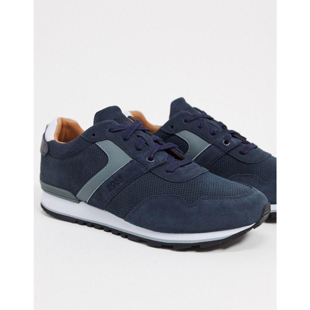 ヒューゴ ボス BOSS メンズ ランニング・ウォーキング シューズ・靴【parkour running trainers】Blue