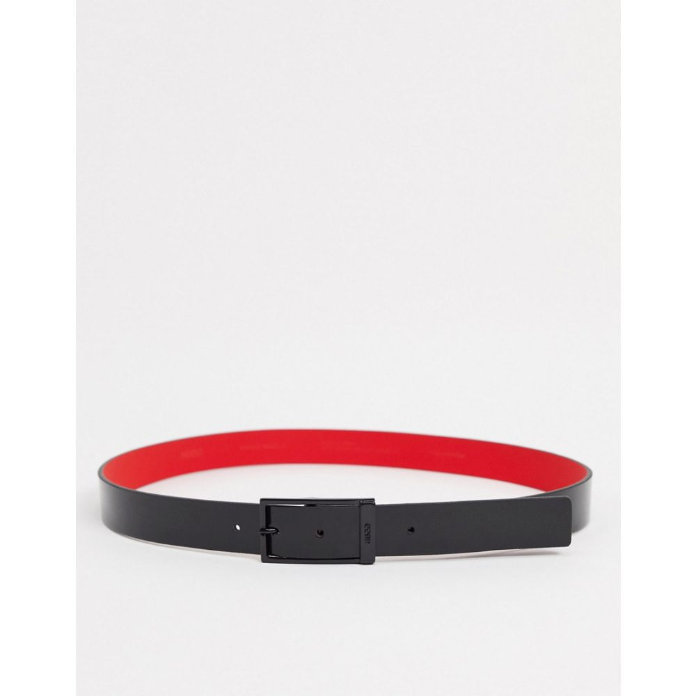 ヒューゴ ボス BOSS メンズ ベルト 【HUGO Gavino leather belt in black】Black