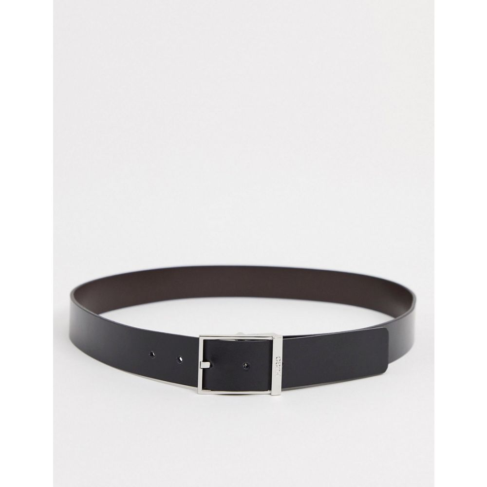 ヒューゴ ボス BOSS メンズ ベルト 【HUGO Goele reversible leather belt in black】Black