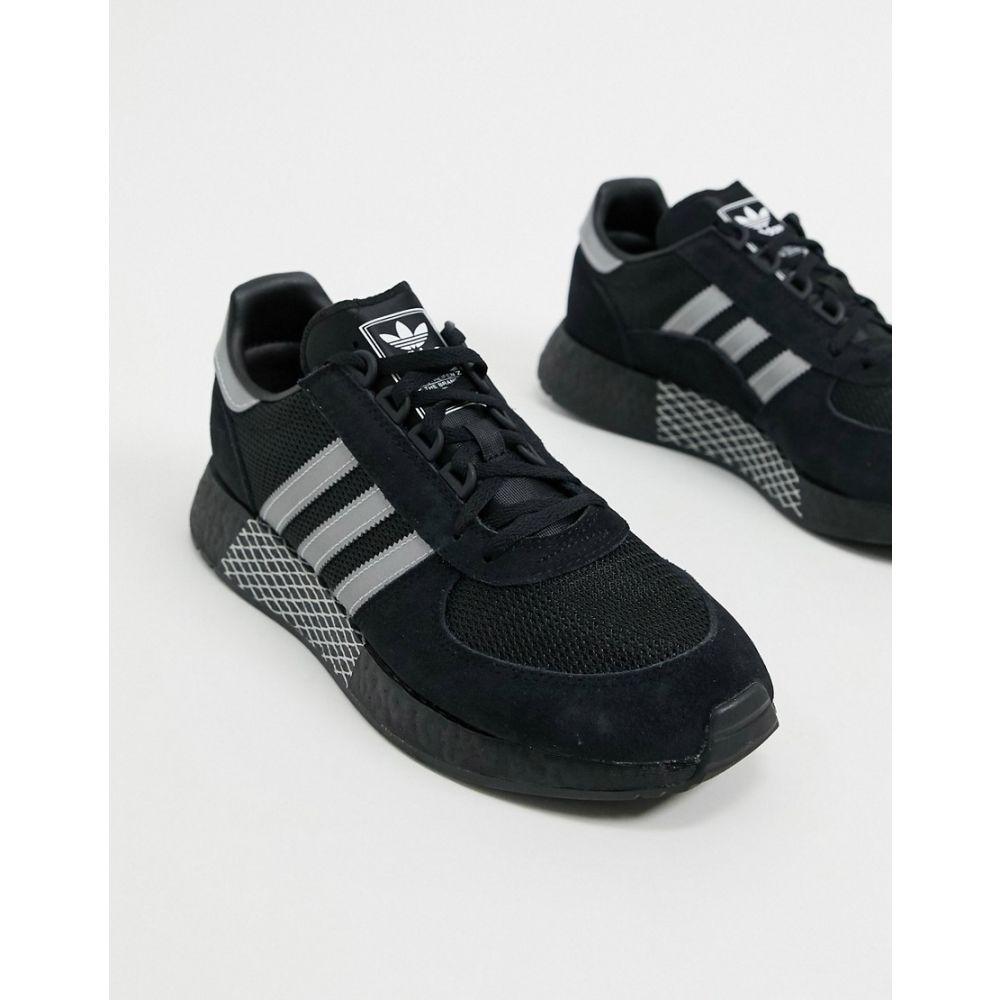 アディダス adidas Originals メンズ スニーカー シューズ・靴【Marathon Tech shoes in black silver & white】Black/silver/whit