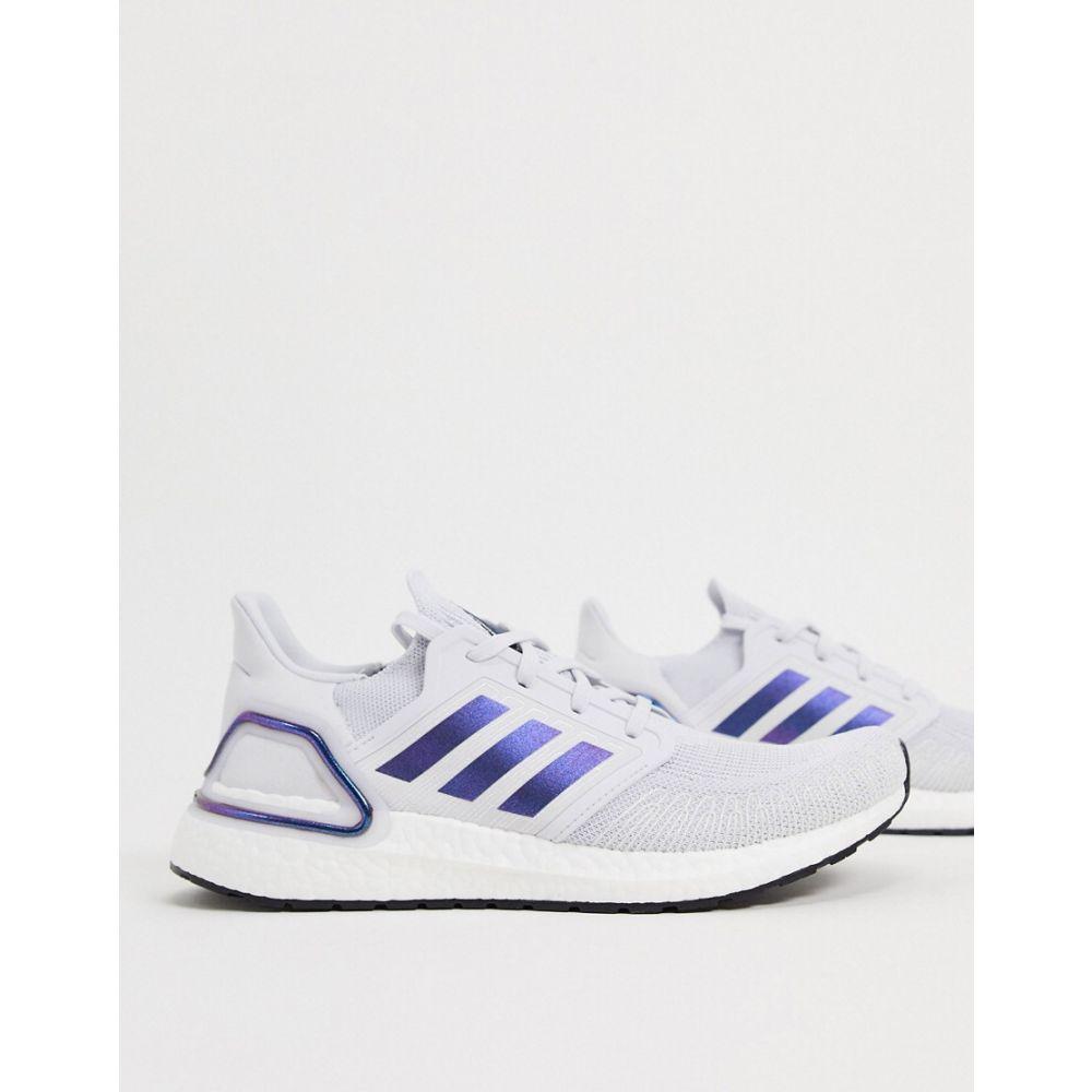 アディダス adidas メンズ スニーカー シューズ・靴【Ultraboost 20 trainers in grey boost blue violet & black】Grey/blue violet