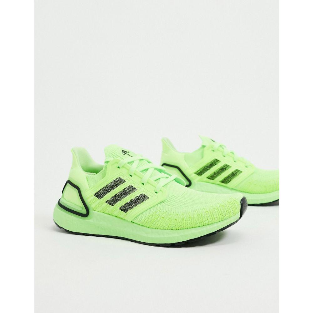アディダス adidas メンズ スニーカー シューズ・靴【Ultraboost 20 trainers in green & black】Green/black