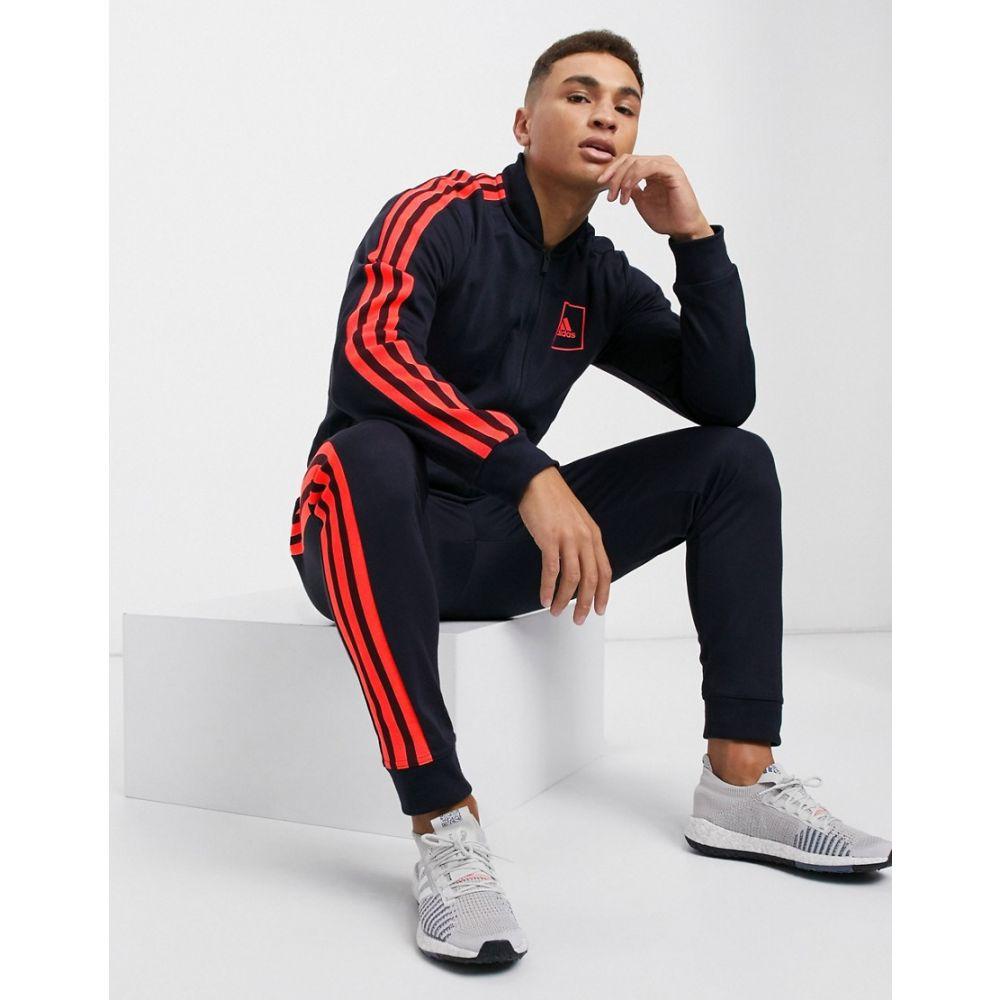 アディダス adidas メンズ ジャージ アウター【3-stripe PIQU track jacket in legend ink】Legend ink
