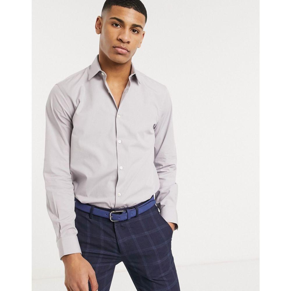 フレンチコネクション French Connection メンズ シャツ トップス【plain poplin shirt in slim fit】Grey
