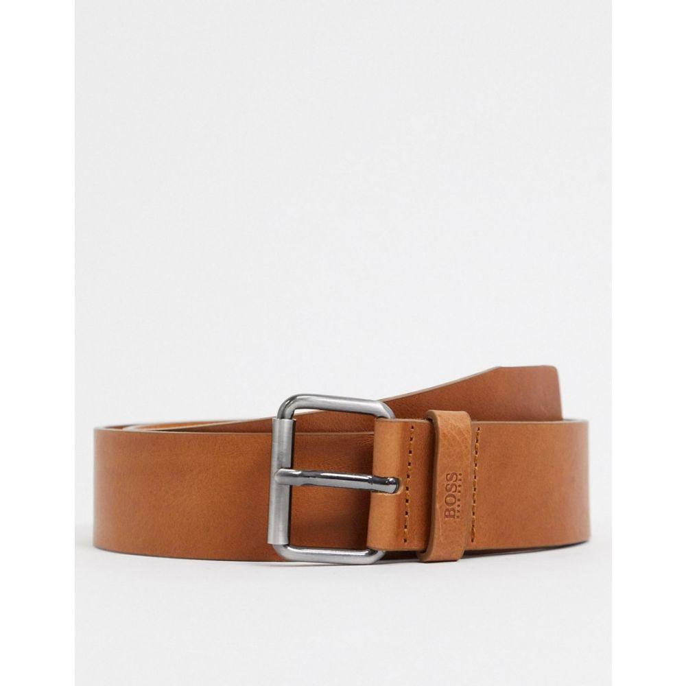 ヒューゴ ボス BOSS メンズ ベルト 【Serge leather belt in tan】Tan