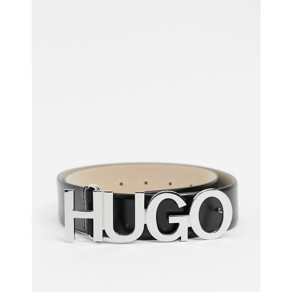 ヒューゴ ボス HUGO メンズ ベルト 【Zula leather logo belt in black】Black