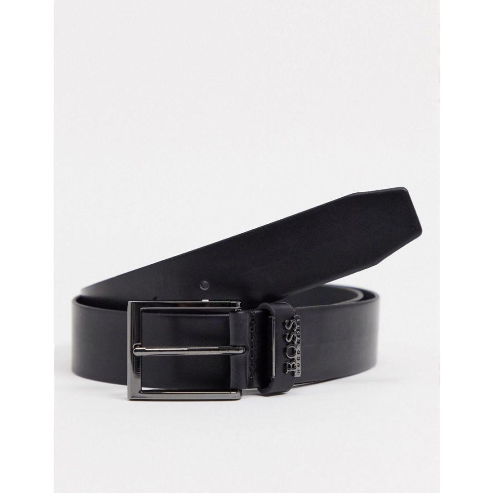 ヒューゴ ボス BOSS メンズ ベルト 【senol leather belt】Black