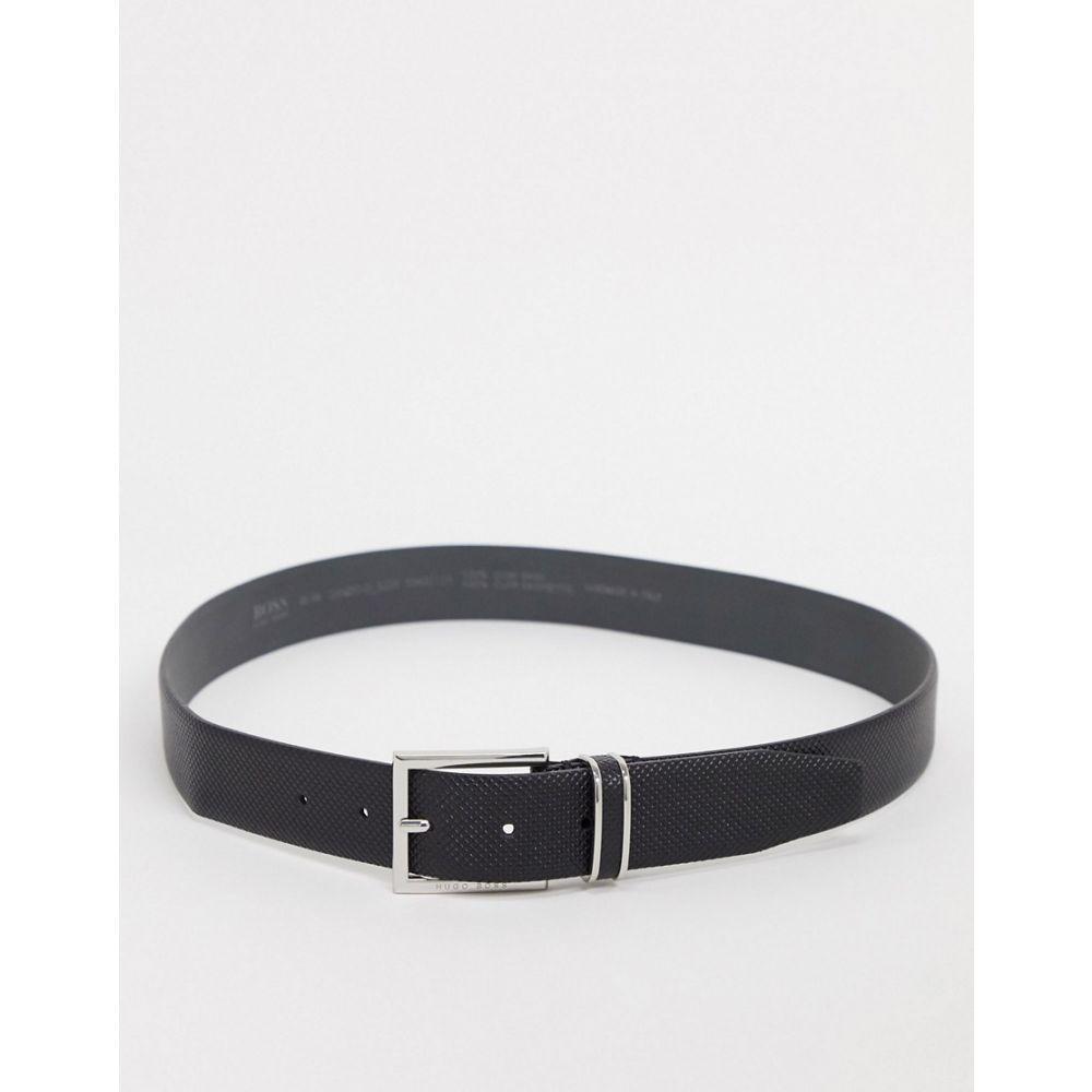 ヒューゴ ボス BOSS メンズ ベルト 【canzio-d leather belt】Black