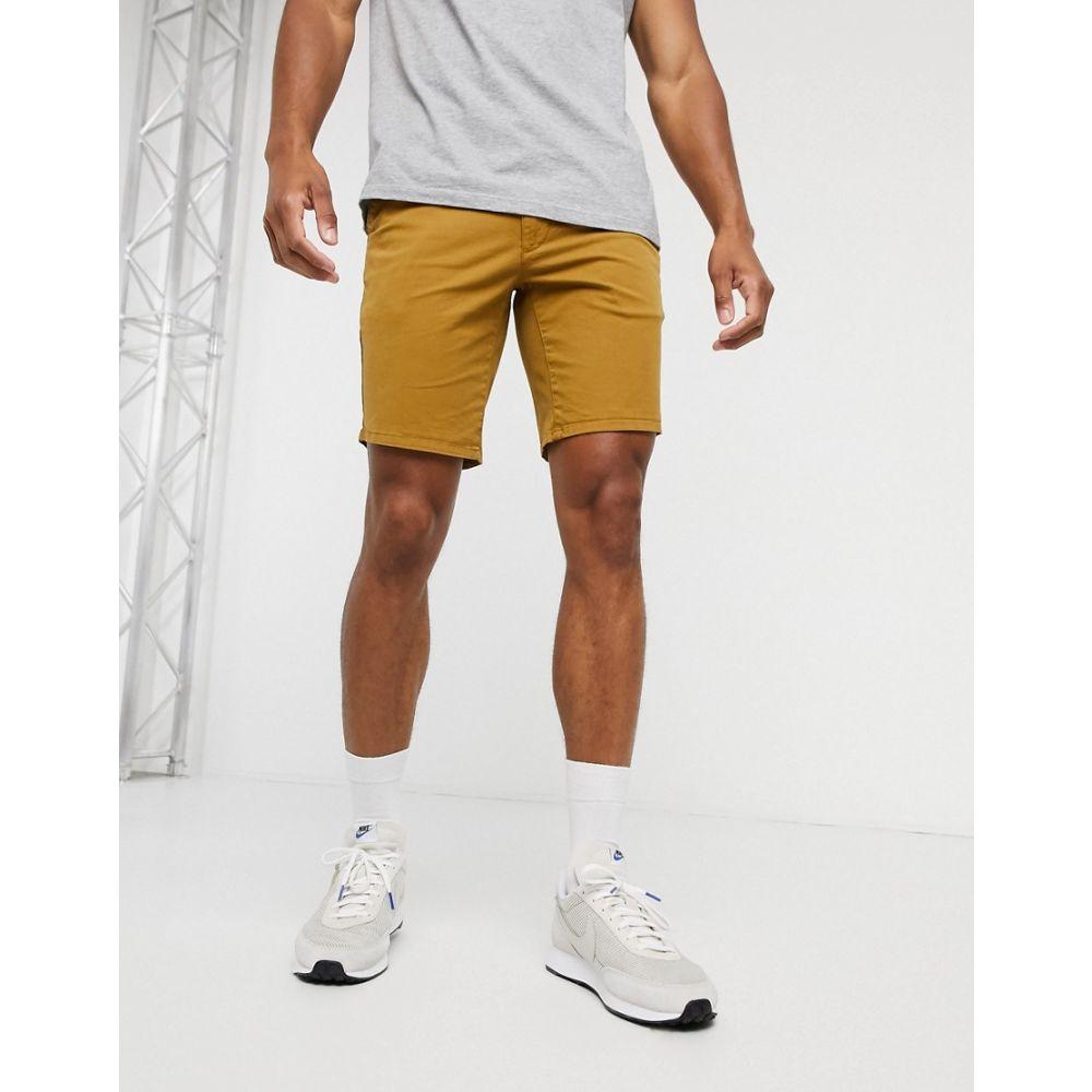 ファーラー Farah メンズ ショートパンツ ボトムス・パンツ【Hawk chino shorts in tan】Olive brown