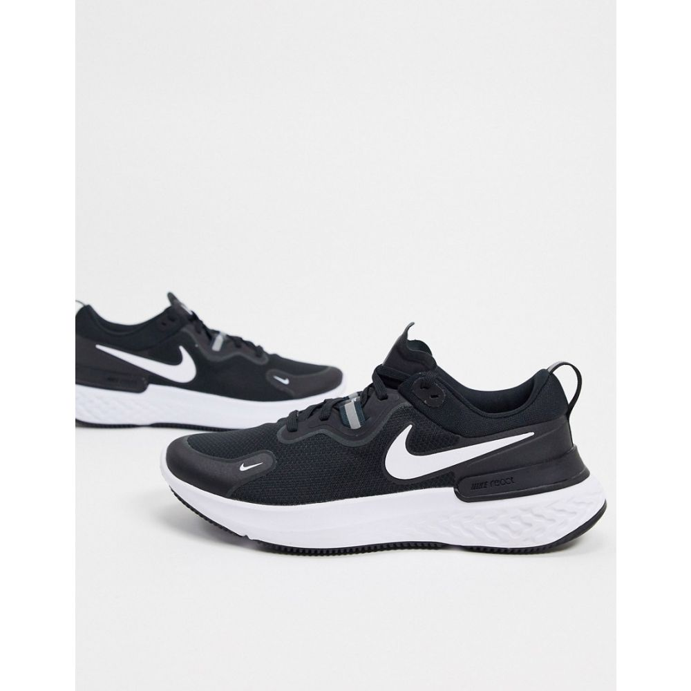 ナイキ Nike Running メンズ スニーカー シューズ・靴【React Miler trainers in black】Black