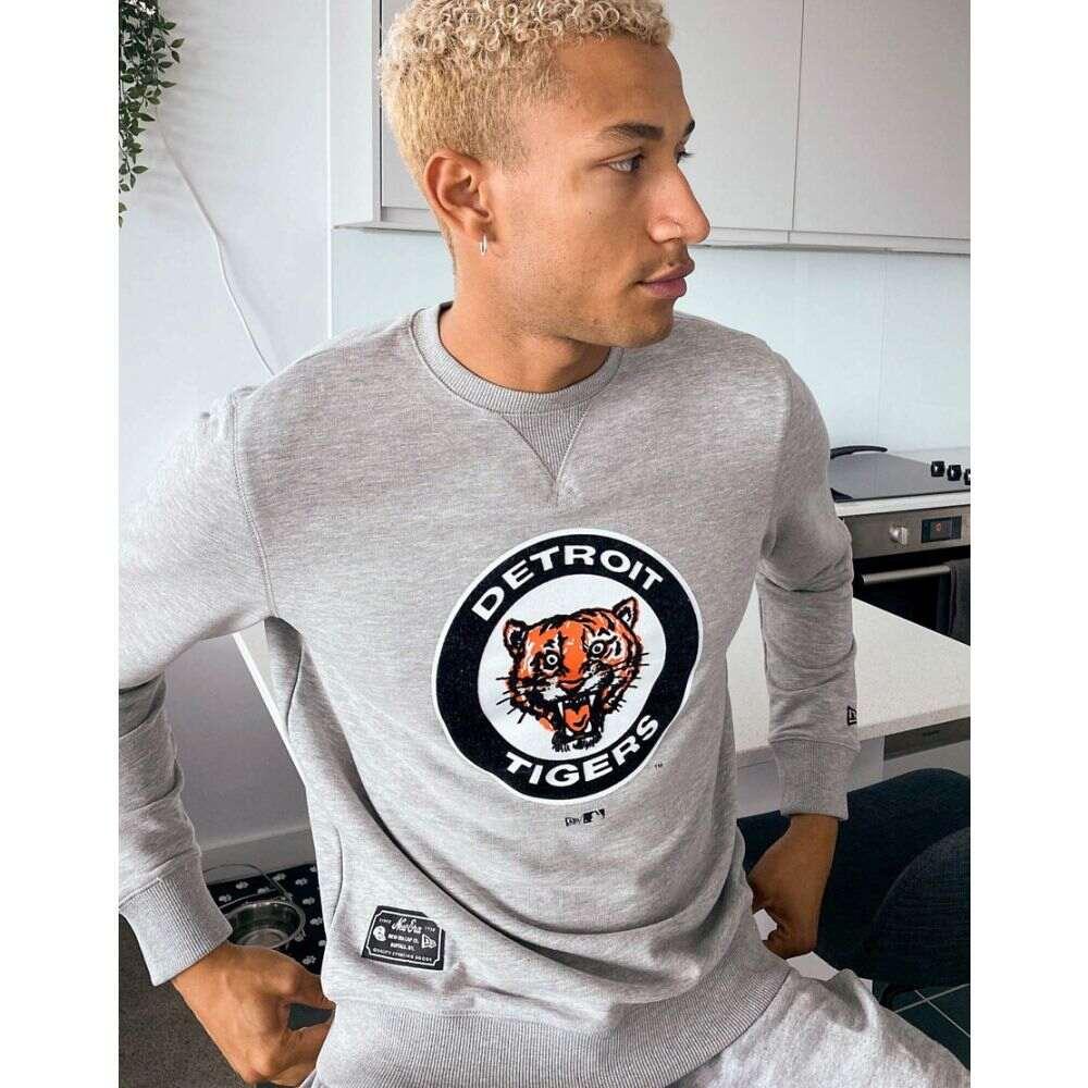 ニューエラ New Era メンズ スウェット・トレーナー トップス【MLB Detroit Tigers Cooperstown sweatshirt in grey】Grey