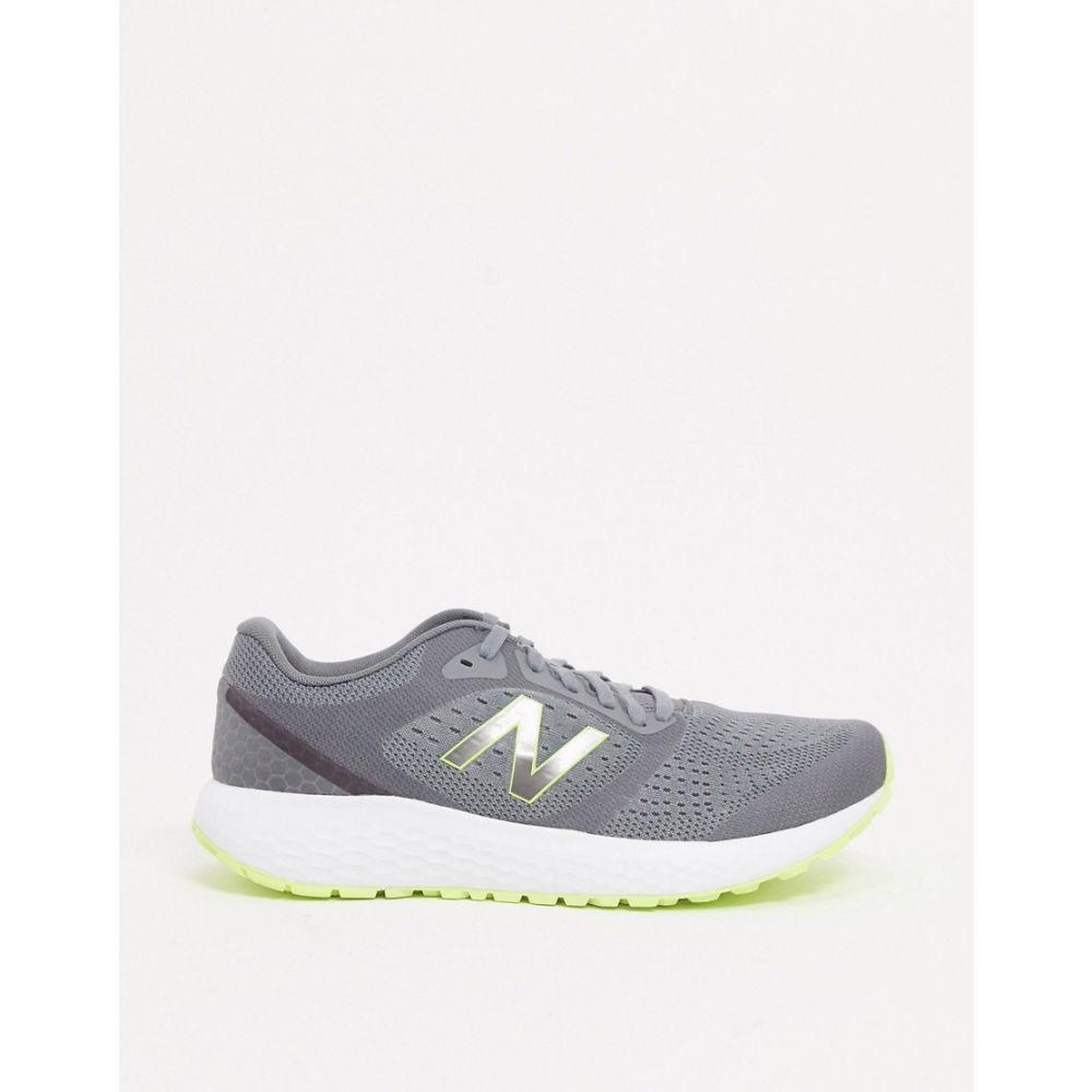 ニューバランス New Balance メンズ ランニング・ウォーキング シューズ・靴【Running 520 trainers in grey/neon】Grey
