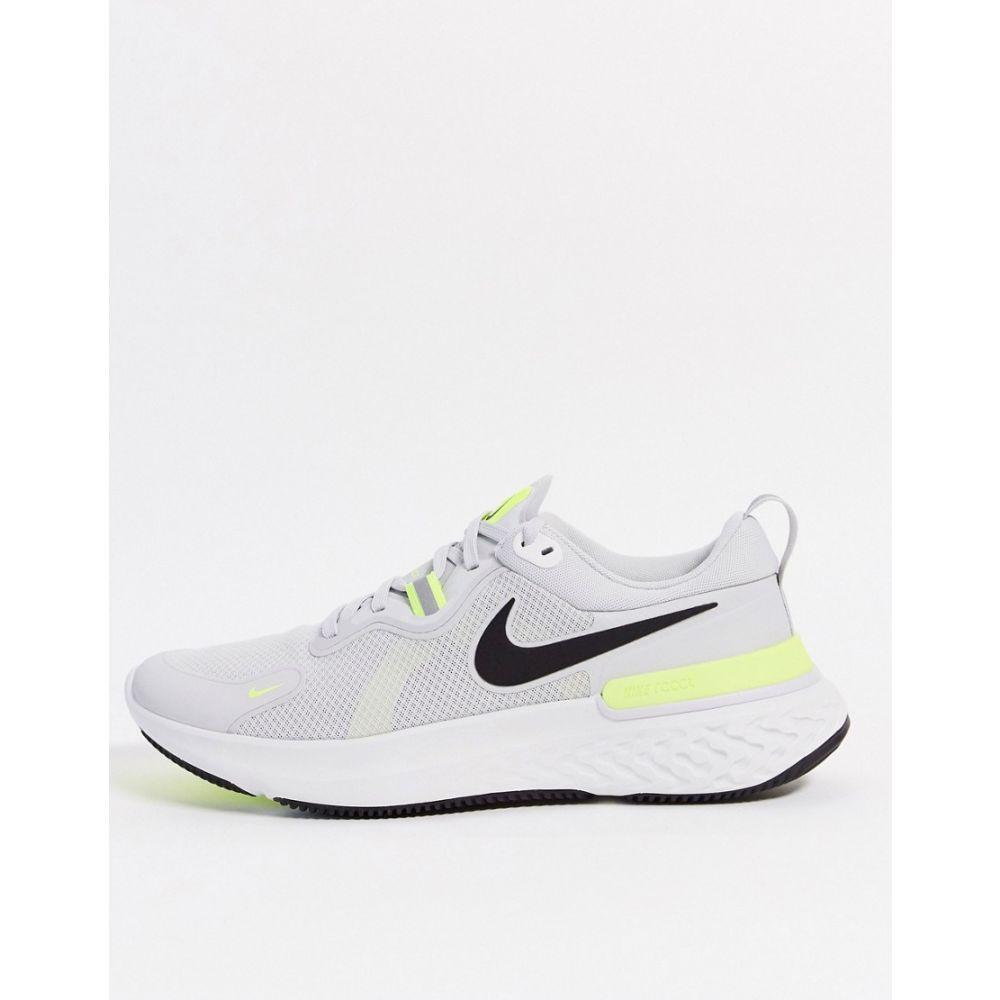 ナイキ Nike Running メンズ スニーカー シューズ・靴【React Miler trainers in grey】Grey