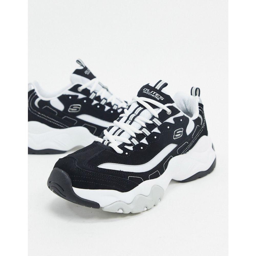 スケッチャーズ Skechers メンズ スニーカー チャンキーヒール シューズ・靴【d'lites 3.0 chunky trainers in black and white】Black