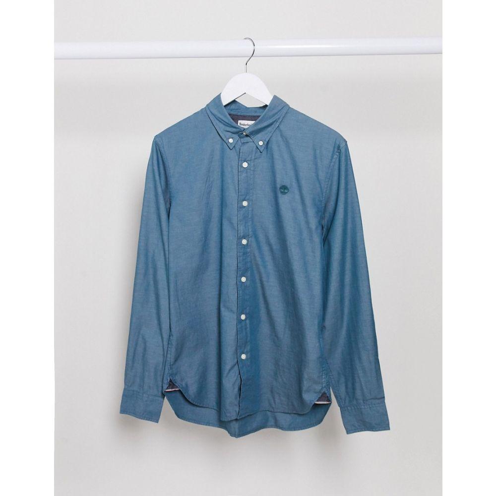 ティンバーランド Timberland メンズ シャツ トップス【milford oxford slim shirt】Blue