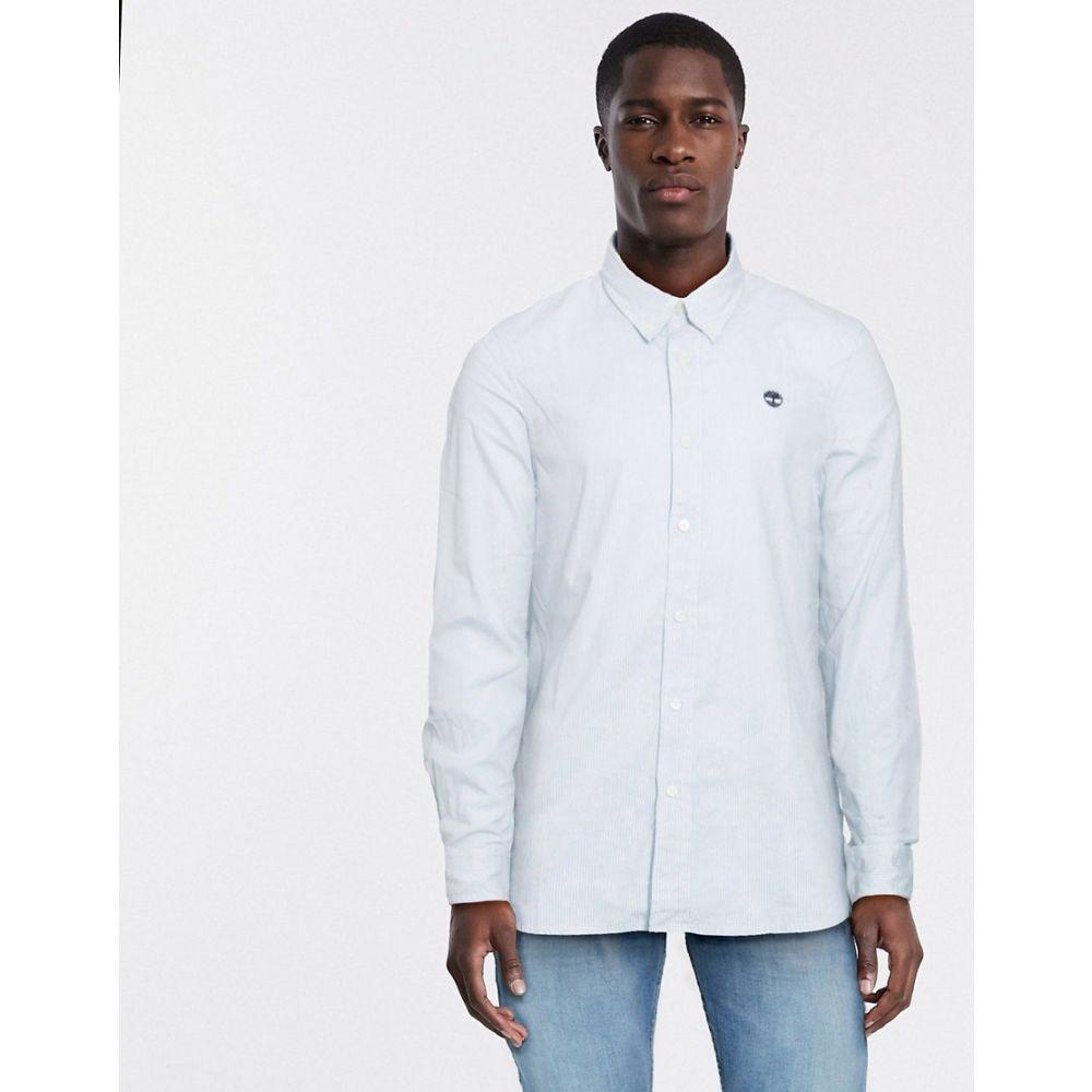 ティンバーランド Timberland メンズ シャツ トップス【milford stripe oxford slim long sleeve shirt】Blue