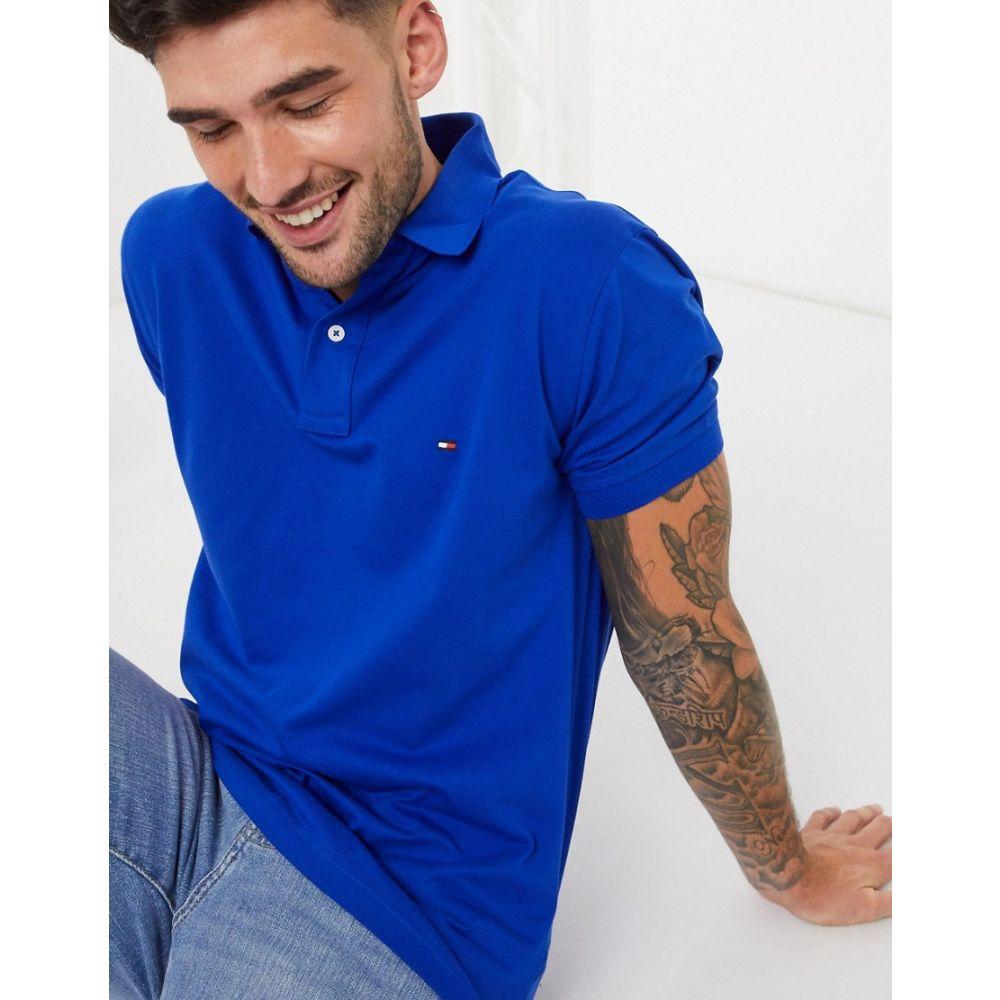 トミー ヒルフィガー Tommy Hilfiger メンズ ポロシャツ トップス【regular fit polo shirt】Blue