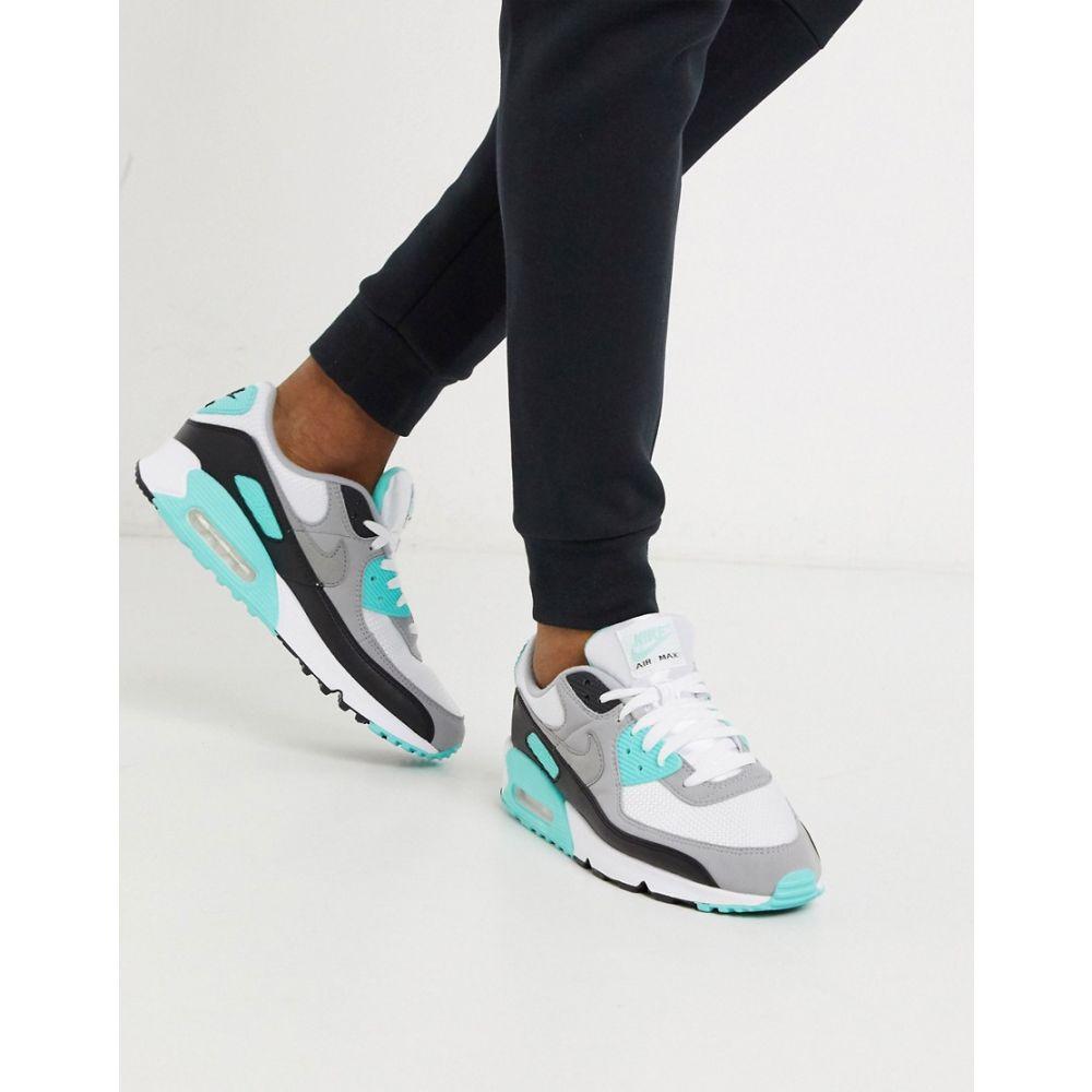 ナイキ Nike メンズ スニーカー エアマックス 90 シューズ・靴【Air Max 90 Recraft trainers in white/turquoise】White/turquoise
