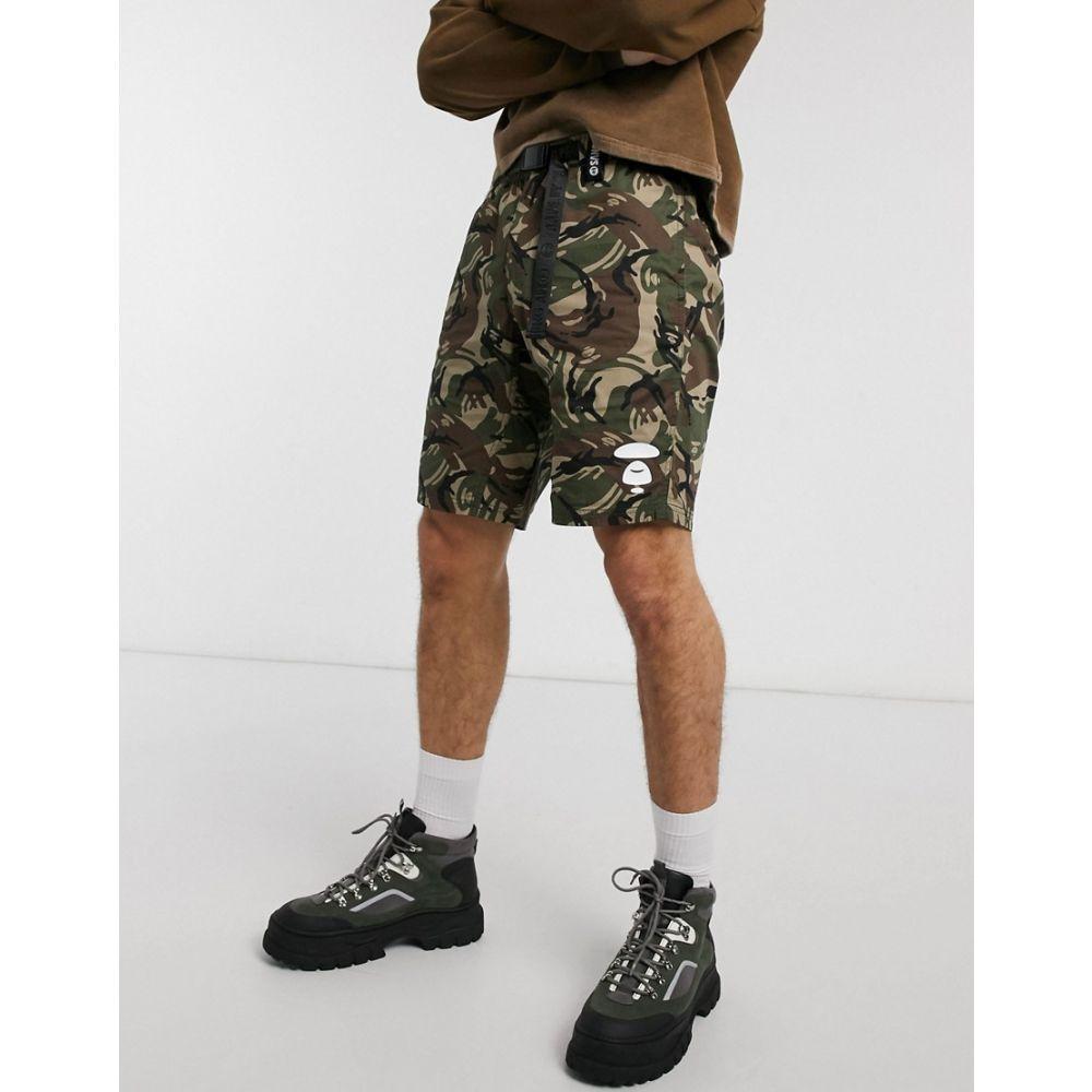 AAPE 5POCKET SHORTS Pants Black x Gold  From Japan New A BATHING APE Men/'s