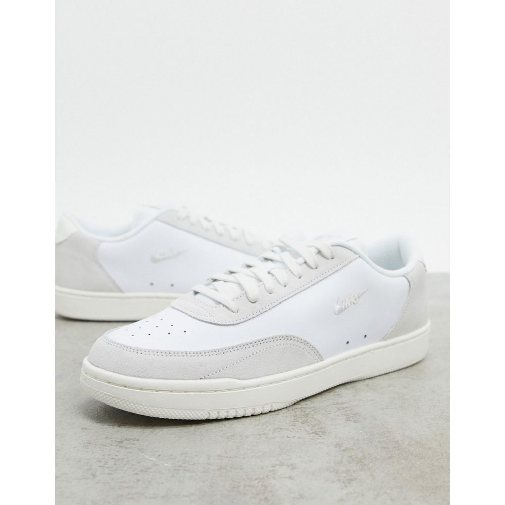 ナイキ Nike メンズ スニーカー シューズ・靴【Court Vintage Premium leather trainers in white/platinum tint】White