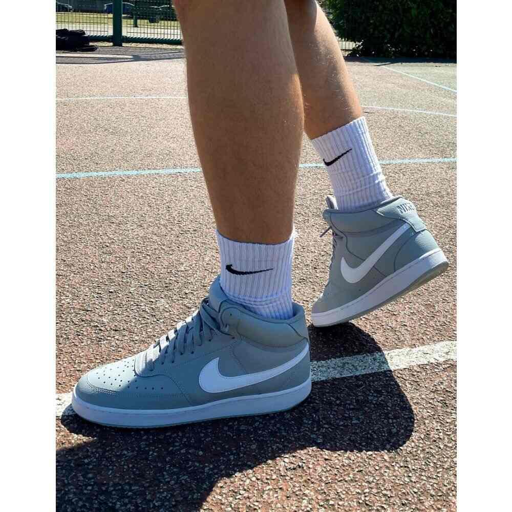 ナイキ Nike メンズ バスケットボール シューズ・靴【Court Vision Mid basketball trainers in smoke grey】Smoke grey