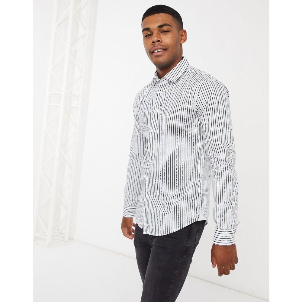 ヒューゴ ボス BOSS メンズ シャツ トップス【mypop print long sleeve shirt】White