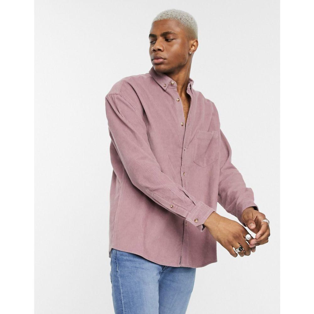 エイソス ASOS DESIGN メンズ シャツ トップス【oversized 90s style cord shirt in lilac】Lilac