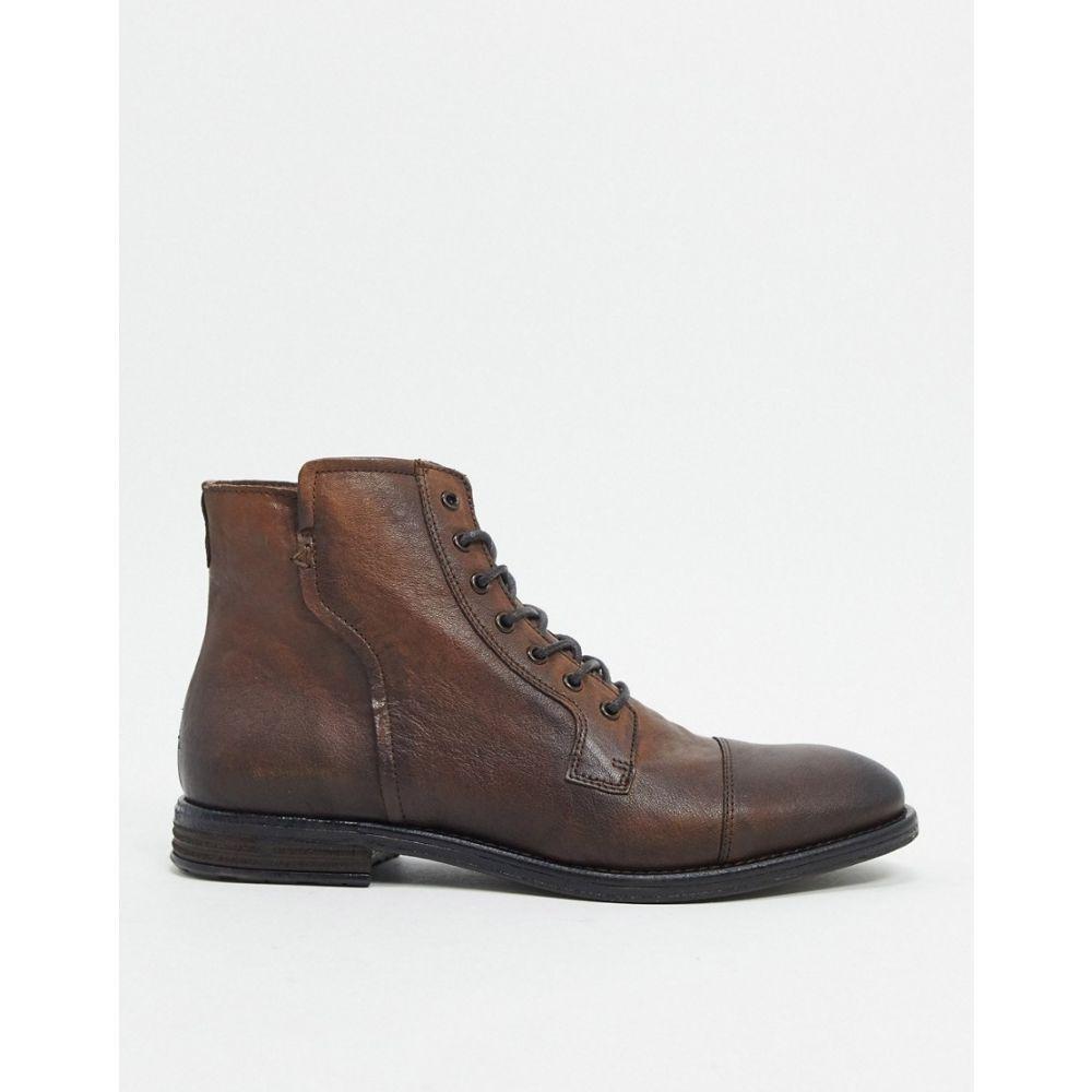 アルド ALDO メンズ ブーツ レースアップブーツ シューズ・靴【kaoreria leather lace up boots in brown】Dark brown