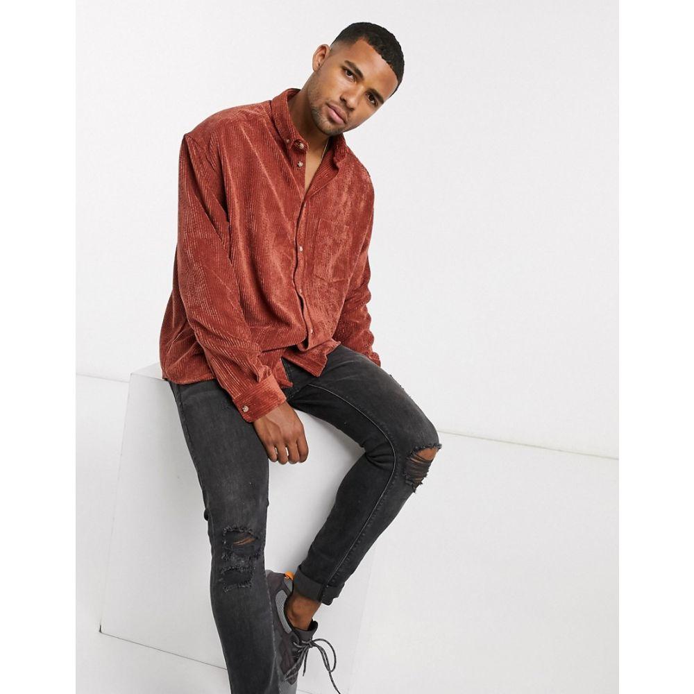 エイソス ASOS DESIGN メンズ シャツ トップス【oversized 90s style cord shirt in rust】Rust