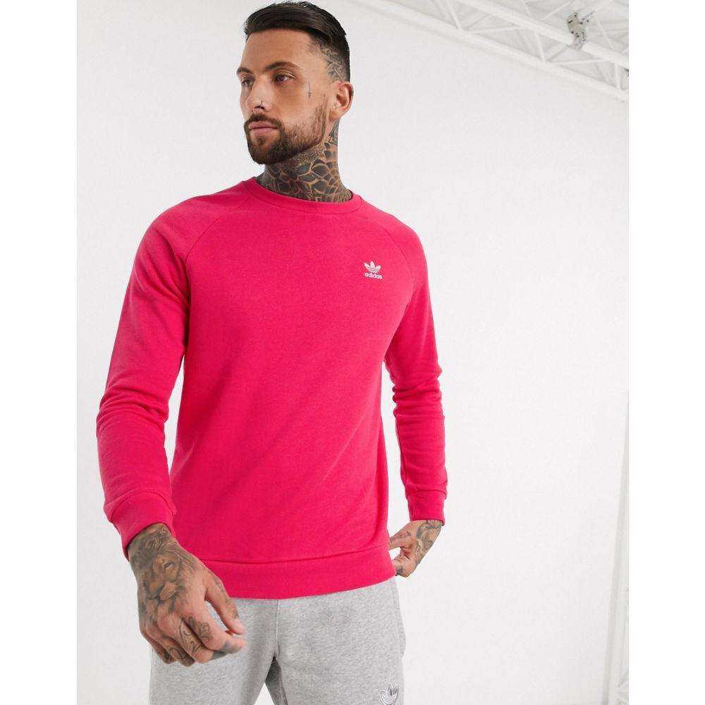 アディダス adidas Originals メンズ スウェット・トレーナー トップス【essentials sweatshirt in pink】Pink