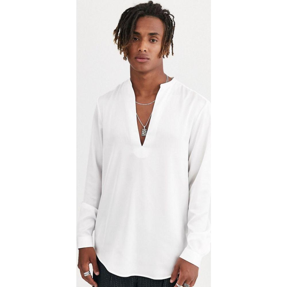 ハートアンドダガー Heart & Dagger メンズ シャツ Vネック トップス【v neck shirt】White