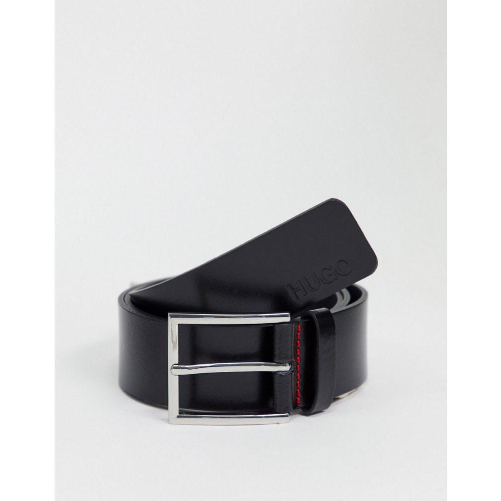 ヒューゴ ボス HUGO メンズ ベルト 【Giaspo leather belt in black】Black