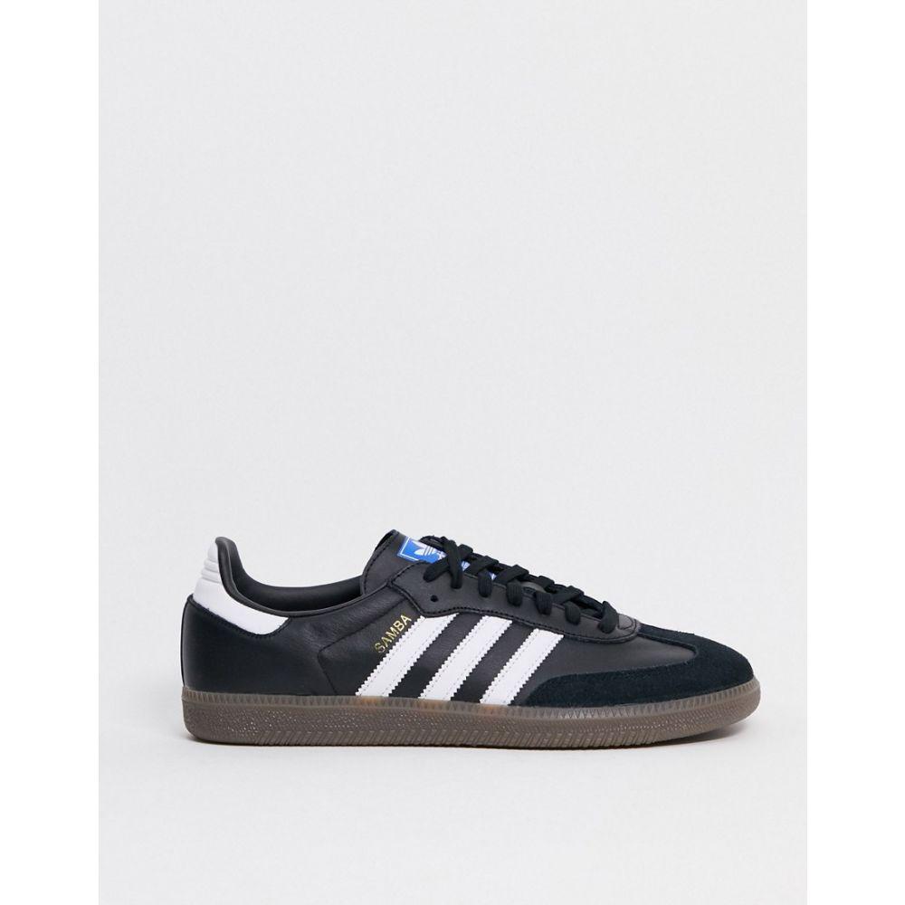 アディダス adidas Originals メンズ スニーカー シューズ・靴【Samba OG trainers in black with gum sole】Black