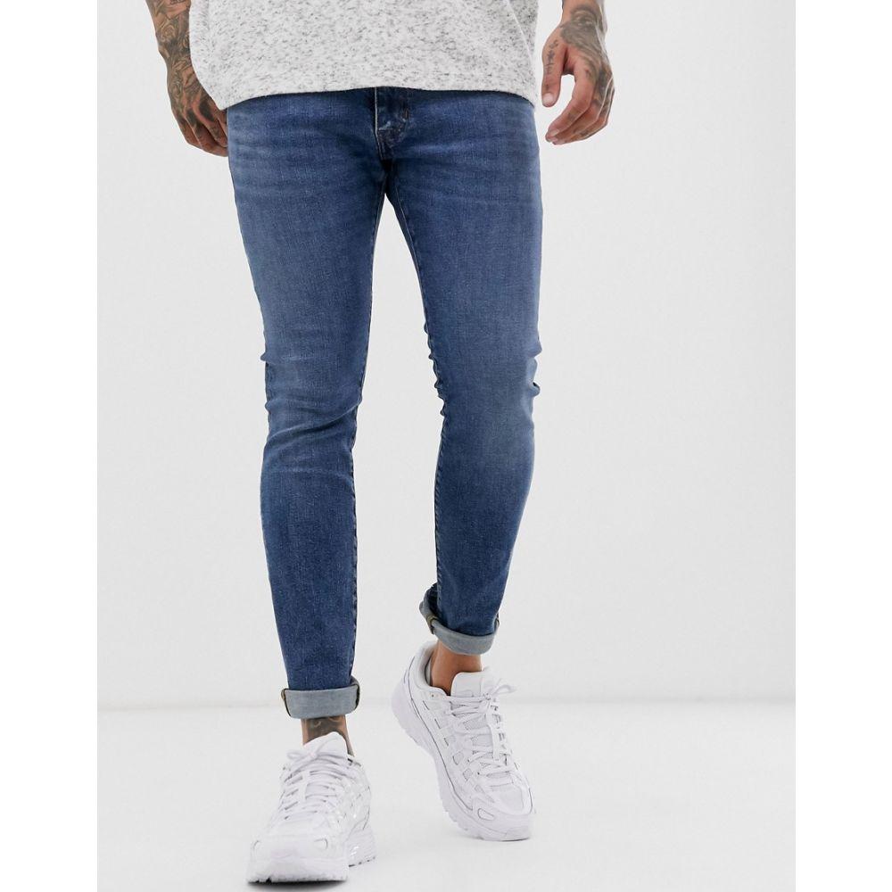 ラングラー Wrangler メンズ ジーンズ・デニム ボトムス・パンツ【bryson skinny jeans in midwash blue】Blue fire