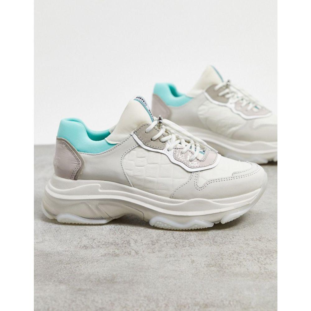 ブロンクス Bronx レディース スニーカー チャンキーヒール シューズ・靴【BRONX chunky trainers in pastel leather】White