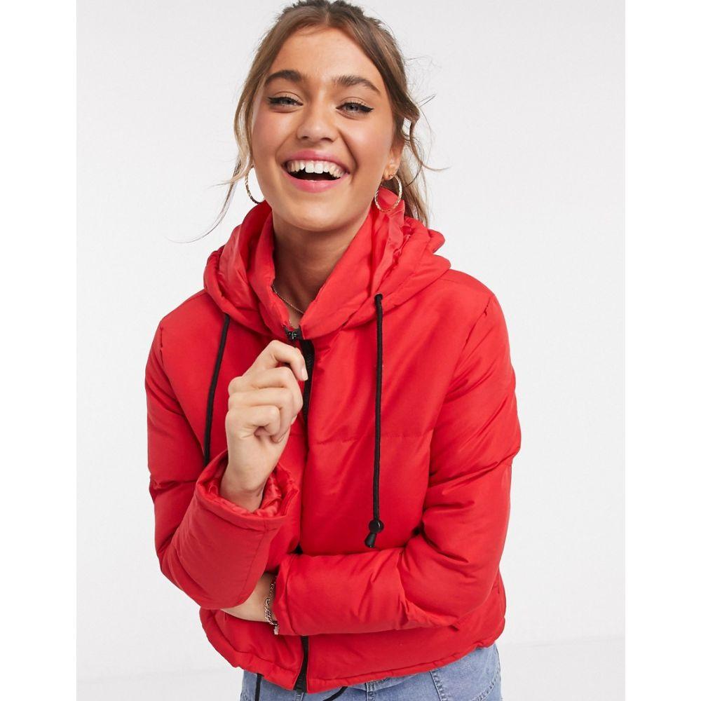 ブレイブソウル Brave Soul レディース ダウン・中綿ジャケット フード アウター【cello hooded puffer jacket】Bright red